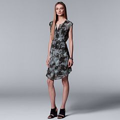 Women's Simply Vera Vera Wang Printed Pleat Dress