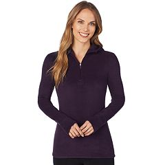 Plus Size Cuddl Duds Half-Zip Hooded Fleece