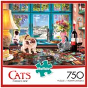 Buffalo Games 750-Piece Cats: Puzzlers Desk Puzzle
