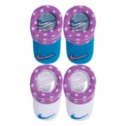 Baby Girl Nike 2-pack Purple & Blue Dot Booties
