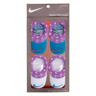 Baby Girl Nike 2-pack Purple & Blue Dot Booties
