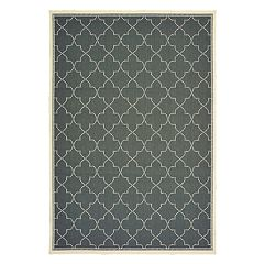 StyleHaven Mainland Moroccan Lattice Indoor Outdoor Rug