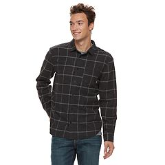 Men's Vans Tell So-K Flannel Button-Down Shirt