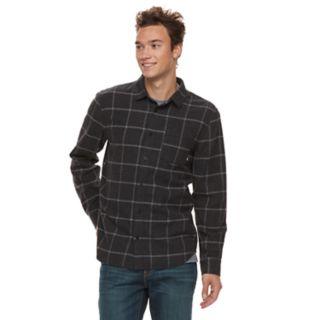 Men's Vans Tell So-K Flannel Button-Down Shirt