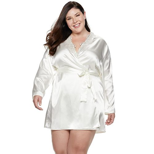 Plus Size Flora by Flora Nikrooz Charmeuse Satin Wrap