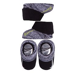 Baby Boy Nike 2-pack Gray & Black Booties
