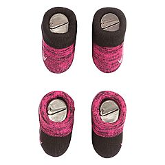Baby Girl Nike 2-pack Pink & Black Booties