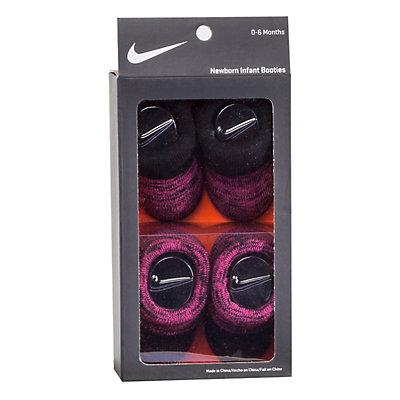 Baby Girl Nike 2-pack Pink & Black Booties