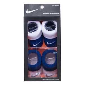 Baby Boy Nike 2-pack Blue & White Booties