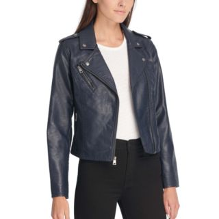 Women's Levi's® Classic Faux-Leather Motorcycle Jacket