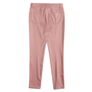 Girls 7-16 Mudd® Zipper Accent Jeggings