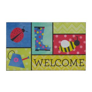Mohawk® Home Garden Patches ''Welcome'' Rubber Doormat - 18'' x 30''