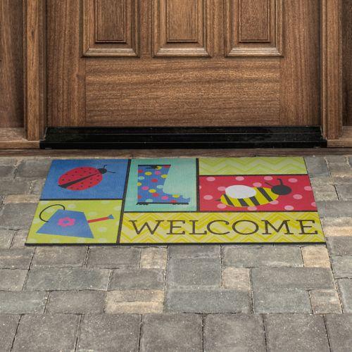 Mohawk® Home Garden Patches ''Welcome'' Rubber Doormat - 18'' x 30''