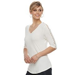 Women's Apt. 9® Beaded Sleeve Tee
