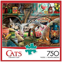 Buffalo Games 750-Piece Cats: Laid-Back Tom Puzzle