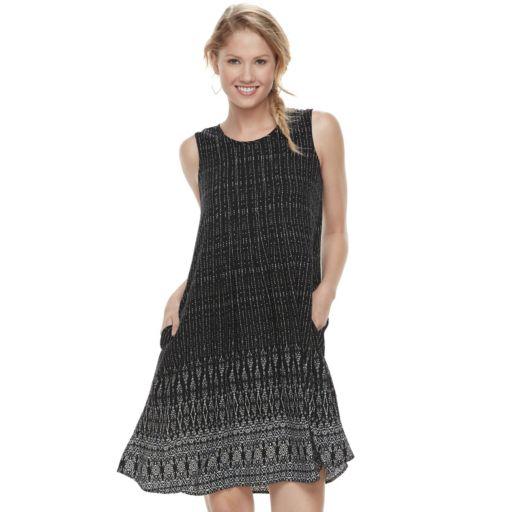 Petite SONOMA Goods for Life™ Pintuck Challis Shift Dress