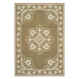 StyleHaven Mainland Traditional Framed Medallion Indoor Outdoor Rug