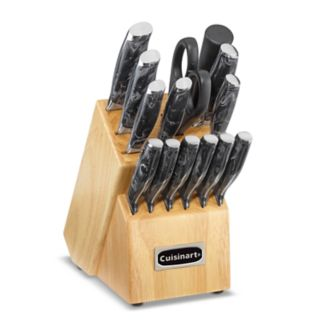 Cuisinart Classic 15-piece Marble-Style Cutlery Block Set