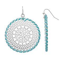 LC Lauren Conrad Filigree Round Drop Earrings
