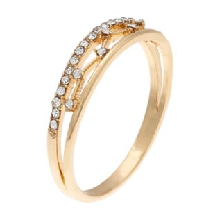 LC Lauren Conrad Simulated Crystal Zigzag Ring