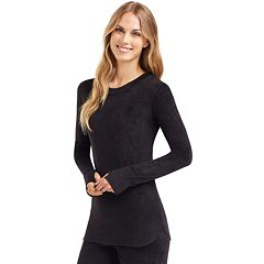 Women's Cuddl Duds Plush Velour Top