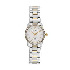 Citizen Women's Crystal Two Tone Stainless Steel Watch - EU6038-89A