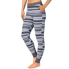 Women's Cuddl Duds Strecth Waffle Thermal Leggings