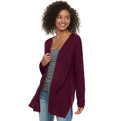 Juniors' Pink Republic Pointelle Cardigan