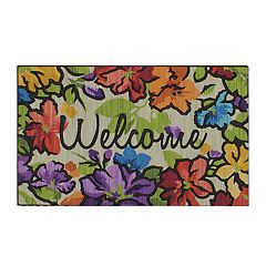 805f47770eaa8 Mohawk® Home Water Garden Floral   Welcome   Rubber Doormat - 18