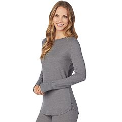 Plus Size Cuddl Duds Stretch Thermal Crewneck Top