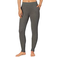 Plus Size Cuddl Duds Strecth Waffle Thermal Leggings