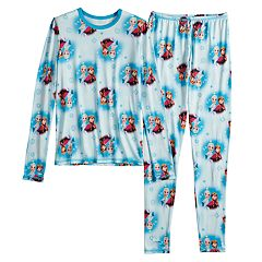 Disney's Frozen Anna & Elsa Girls 4-12 Disney Top & Bottoms Set by Cuddl Duds