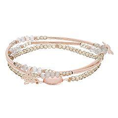 LC Lauren Conrad Beaded Multi Strand Bracelet