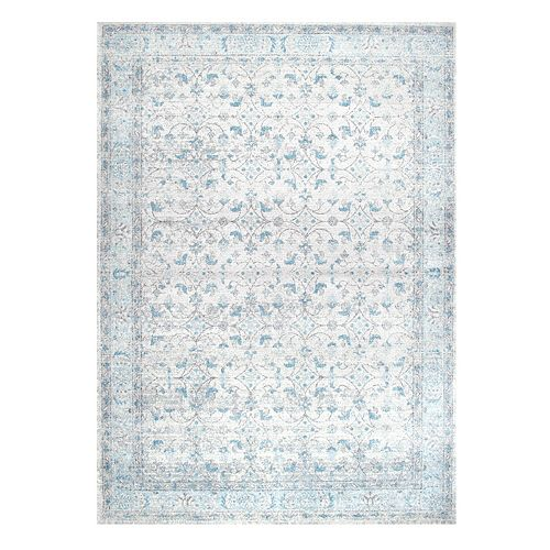 nuLOOM Bodrum Lindy Vintage Framed Floral Rug