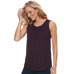 Women's Croft & Barrow® Pleated Swing Tank