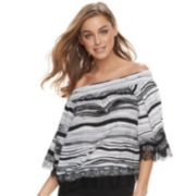 Women's Jennifer Lopez Off-the-Shoulder Crepe Top