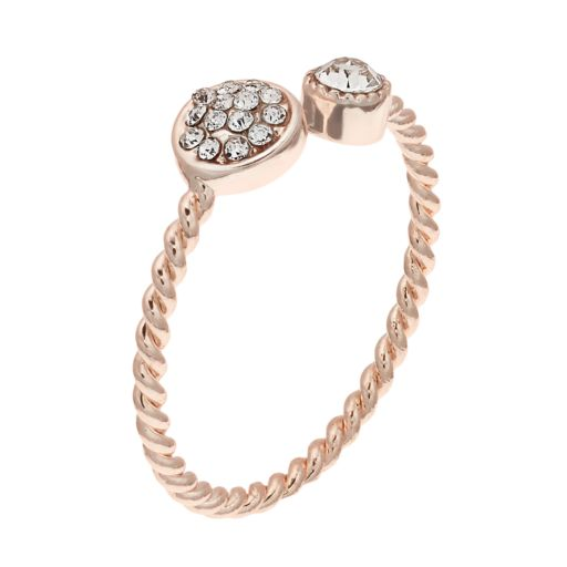 LC Lauren Conrad Twisted Pave Simulated Crystal Ring