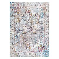 nuLOOM Izetta Antique Medallion Framed Floral Rug - 5' x 8'