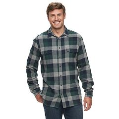 Big & Tall SONOMA Goods for Life™ Modern-Fit Supersoft Flannel Button-Down Shirt