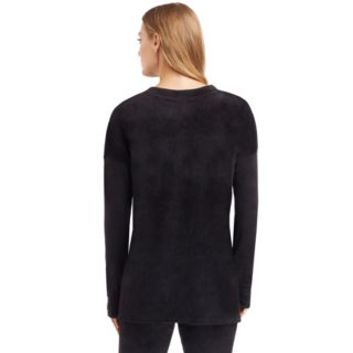 Women's Cuddl Duds Plush Velour Pullover Top