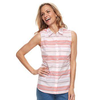 6906a0c39233bb Women s Croft   Barrow® Print Sleevless Button-Front Shirt