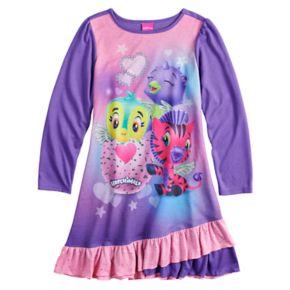 Girls 4-12 Hatchimals Ruffled Knee-Length Dorm Nightgown