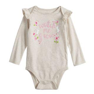 Baby Girl Jumping Beans® Ruffled Shoulder Graphic Bodysuit