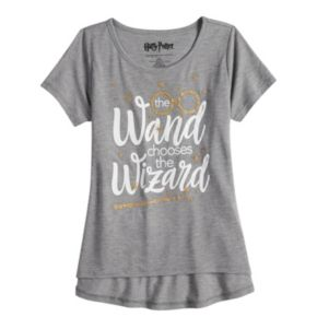 "Girls 7-16 & Plus Size Harry Potter ""The Wand Chooses The Wizard"" Graphic Tee"