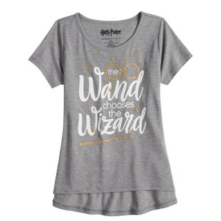 """Girls 7-16 & Plus Size Harry Potter """"The Wand Chooses The Wizard"""" Graphic Tee"""