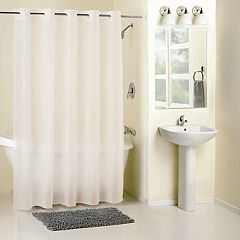 Hookless Frosty Peva Shower Curtain & Water Resistant Liner