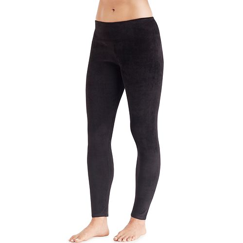 f8ae880510b372 Women's Cuddl Duds Plush Velour Leggings
