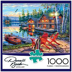 Buffalo Games 1000-Piece Darrell Bush: Loon Lake  Puzzle