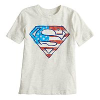 Boys 4-10 Jumping Beans® Patriotic Super-Man Logo Graphic Tee