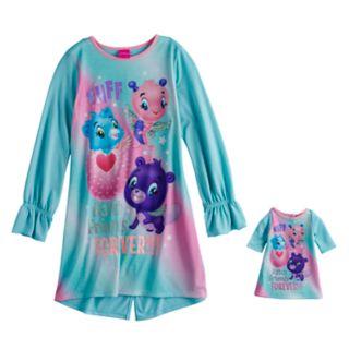 Girls 4-12 Hatchimals Dorm Nightgown & Doll Gown